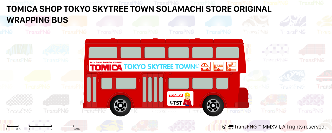 [T20009] Tomica Shop Tokyo Skytree Town Solamachi Store Original Wrapping Bus T20009