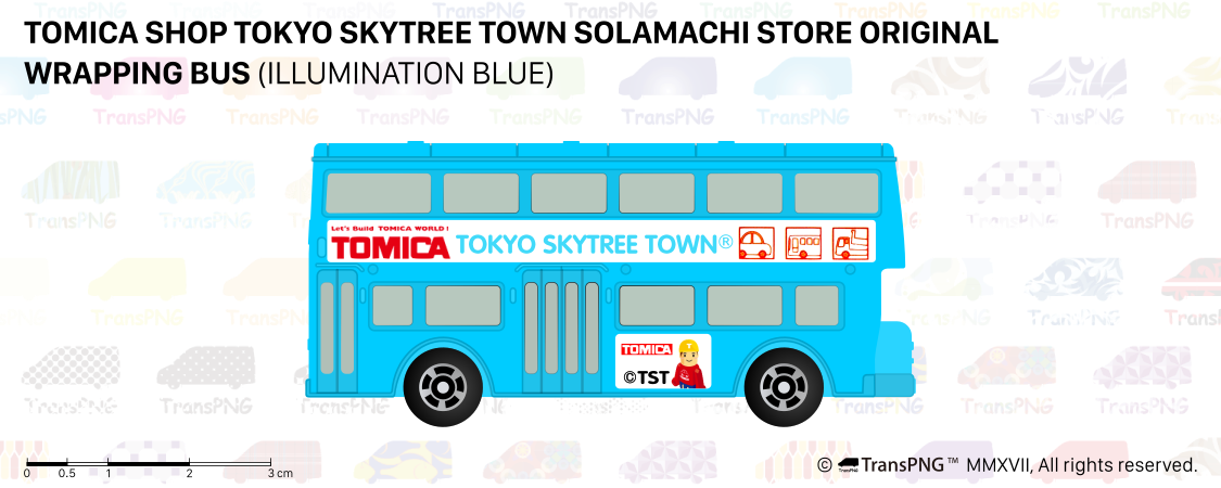 [T20012] Tomica Shop Tokyo Skytree Town Solamachi Store Original Wrapping Bus (Illumination Blue) T20012