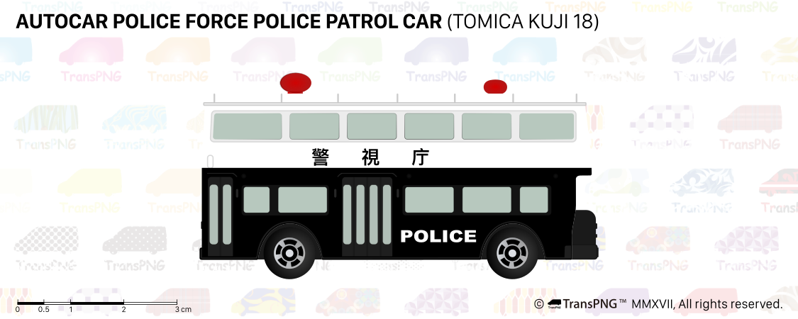 [T20016] Autocar Police Force Police Patrol Car (Tomica Kuji 18) T20016